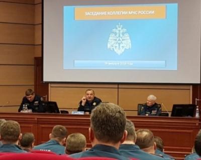 В чрезвычайном ведомстве под руководством Министра Владимира Пучкова состоялось заседание коллегии МЧС России