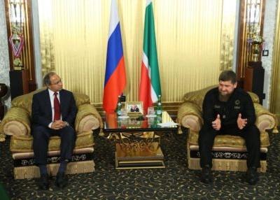 Рамзан Кадыров провел встречу с послом Индии в России Панкадж Сараном