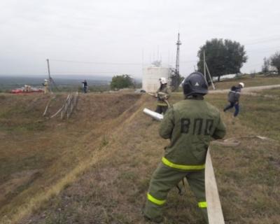 На объекте «Грознефтегаза» ликвидировали учебный пожар