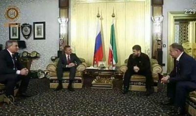 Рамзан Кадыров провел встречу с руководителем Федерального дорожного агентства Р. Старовойтом